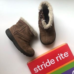 Stride Rite Wallaroo Chestnut Toddler Booties 5W
